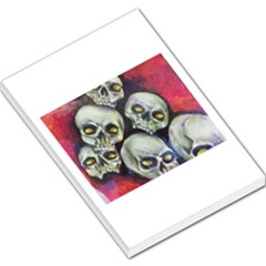 Halloween Skulls No 1 Large Memo Pads