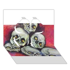 Halloween Skulls No.1 Clover 3D Greeting Card (7x5)