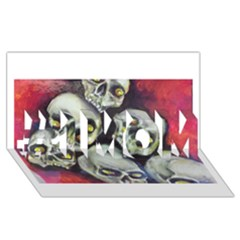 Halloween Skulls No 1 #1 Mom 3d Greeting Cards (8x4)