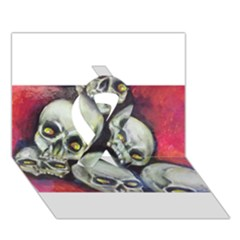 Halloween Skulls No.1 Ribbon 3D Greeting Card (7x5)
