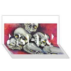 Halloween Skulls No.1 SORRY 3D Greeting Card (8x4)