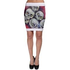 Halloween Skulls No.1 Bodycon Skirts