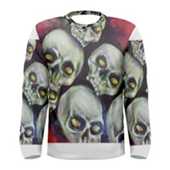 Halloween Skulls No 1 Men s Long Sleeve T Shirts