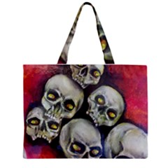 Halloween Skulls No.1 Zipper Tiny Tote Bags