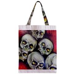Halloween Skulls No.1 Zipper Classic Tote Bags