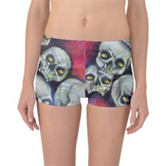 Halloween Skulls No.1 Reversible Boyleg Bikini Bottoms