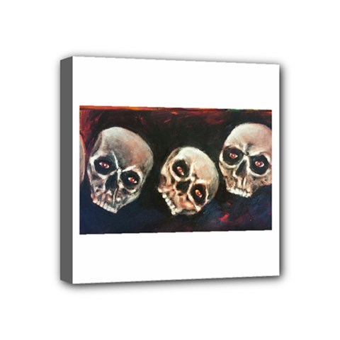 Halloween Skulls No  2 Mini Canvas 4  X 4