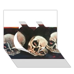 Halloween Skulls No. 2 Heart 3D Greeting Card (7x5)