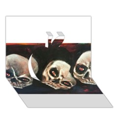 Halloween Skulls No  2 Apple 3d Greeting Card (7x5)
