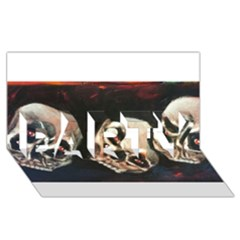 Halloween Skulls No. 2 PARTY 3D Greeting Card (8x4)