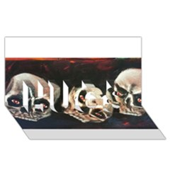 Halloween Skulls No  2 Hugs 3d Greeting Card (8x4)