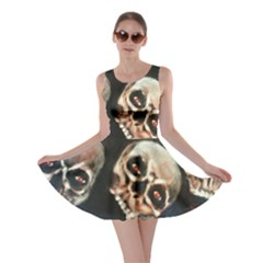 Halloween Skulls No. 2 Skater Dresses
