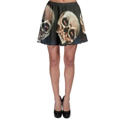 Halloween Skulls No. 2 Skater Skirts