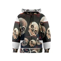 Halloween Skulls No. 2 Kids Zipper Hoodies