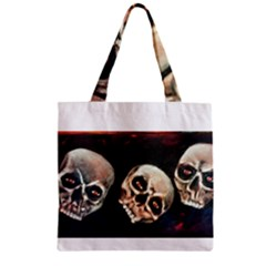 Halloween Skulls No. 2 Zipper Grocery Tote Bags