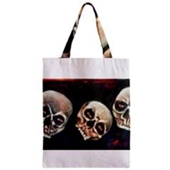 Halloween Skulls No  2 Zipper Classic Tote Bags