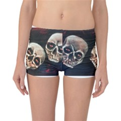 Halloween Skulls No. 2 Reversible Boyleg Bikini Bottoms
