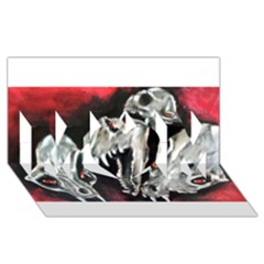 Halloween Skulls No  3 Mom 3d Greeting Card (8x4)