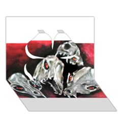 Halloween Skulls No  3 Clover 3d Greeting Card (7x5)