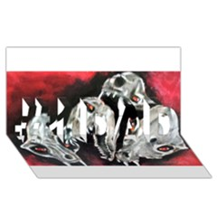Halloween Skulls No. 3 #1 DAD 3D Greeting Card (8x4)