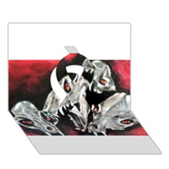 Halloween Skulls No. 3 Ribbon 3D Greeting Card (7x5)