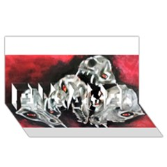 Halloween Skulls No. 3 ENGAGED 3D Greeting Card (8x4)