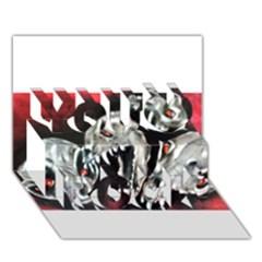 Halloween Skulls No  3 You Rock 3d Greeting Card (7x5)