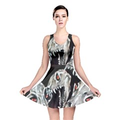 Halloween Skulls No. 3 Reversible Skater Dresses