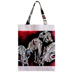 Halloween Skulls No. 3 Zipper Classic Tote Bags