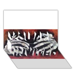 Halloween Bones You Are Invited 3d Greeting Card (7x5)