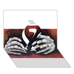 Halloween Bones Ribbon 3D Greeting Card (7x5)