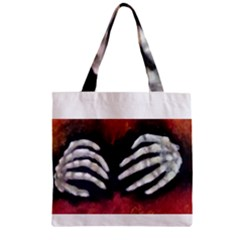 Halloween Bones Zipper Grocery Tote Bags