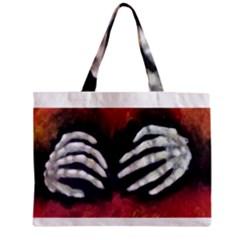 Halloween Bones Zipper Tiny Tote Bags