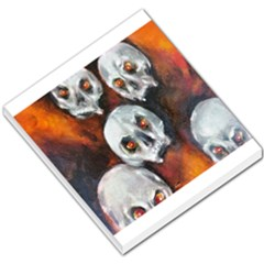 Halloween Skulls No  4 Small Memo Pads