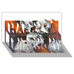 Halloween Skulls No. 4 Happy Birthday 3D Greeting Card (8x4)