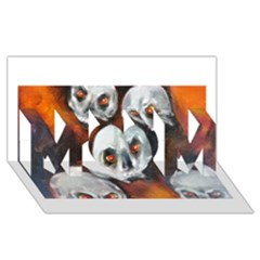 Halloween Skulls No. 4 MOM 3D Greeting Card (8x4)