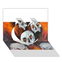 Halloween Skulls No. 4 Heart 3D Greeting Card (7x5)