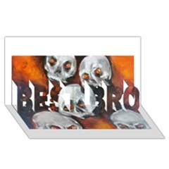 Halloween Skulls No. 4 BEST BRO 3D Greeting Card (8x4)