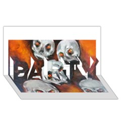 Halloween Skulls No. 4 PARTY 3D Greeting Card (8x4)