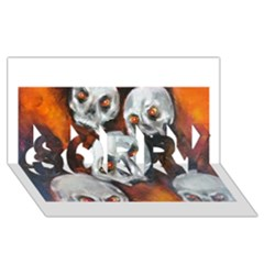Halloween Skulls No  4 Sorry 3d Greeting Card (8x4)