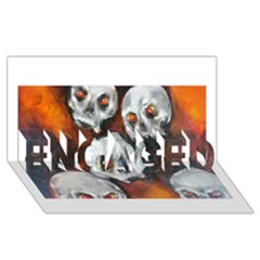 Halloween Skulls No. 4 ENGAGED 3D Greeting Card (8x4)