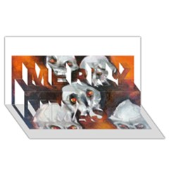 Halloween Skulls No  4 Merry Xmas 3d Greeting Card (8x4)