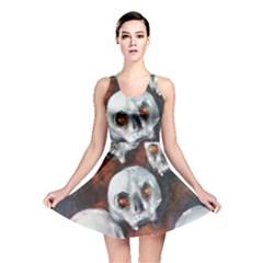 Halloween Skulls No  4 Reversible Skater Dresses