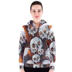Halloween Skulls No. 4 Women s Zipper Hoodies