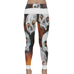 Halloween Skulls No. 4 Yoga Leggings