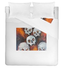 Halloween Skulls No  4 Duvet Cover (full/queen Size)