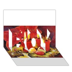 Holiday Candles  BOY 3D Greeting Card (7x5)