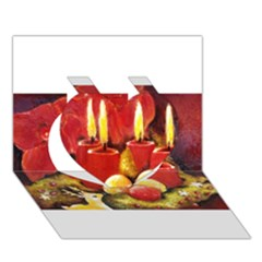 Holiday Candles  Heart 3D Greeting Card (7x5)