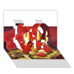 Holiday Candles  LOVE 3D Greeting Card (7x5)