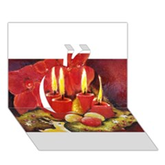 Holiday Candles  Apple 3d Greeting Card (7x5)